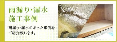 雨漏り・漏水 施工事例
