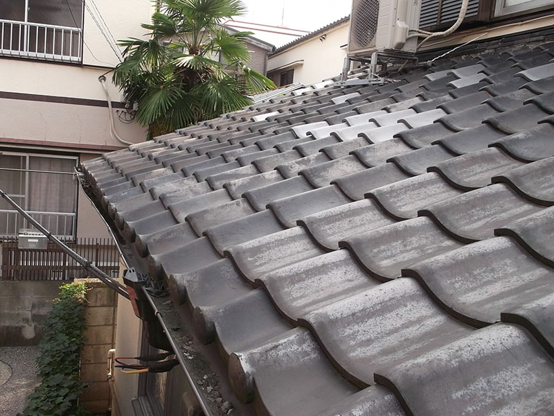 1.屋根瓦補修前