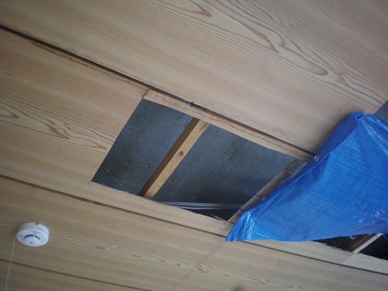 1.天井からの漏水