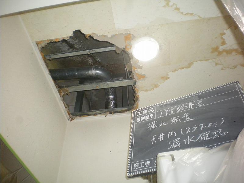 漏水調査状況(天井)
