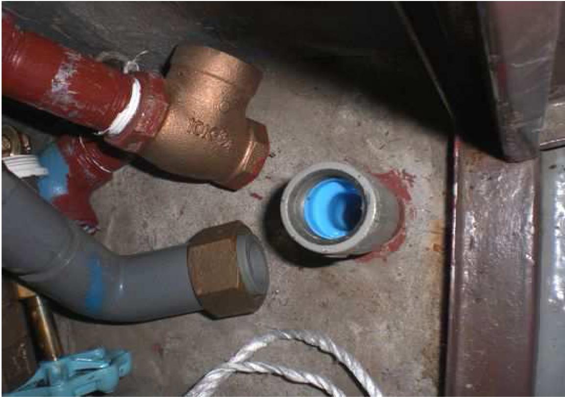 配管内部、上塗り後の状況