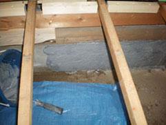 コンクリート基礎補強材、パワーアラスト塗布