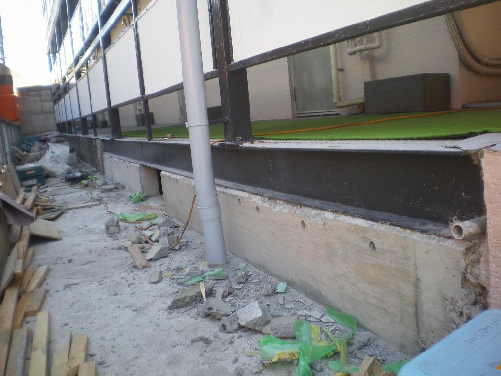 土間・基礎コンクリート型枠解体後